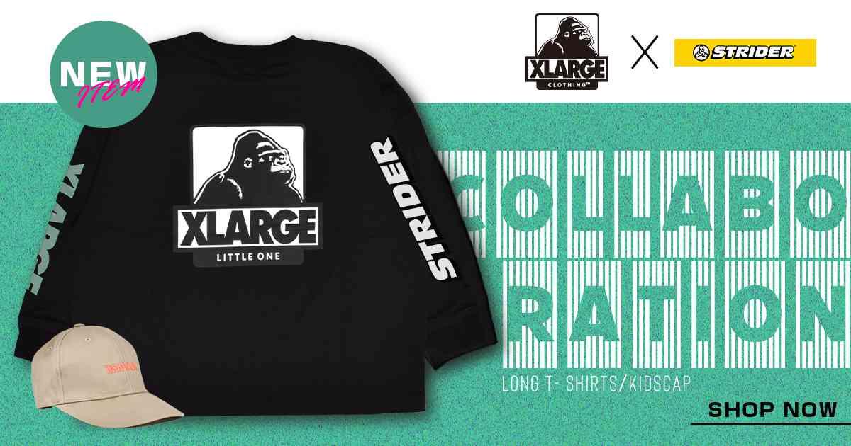 【ムラサキスポーツ限定販売】XLARGE × STRIDER コラボアパレル(2020年11月27日発売開始)
